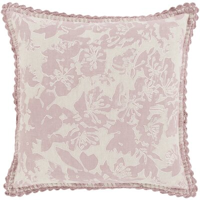 Olga Throw Pillow Size: 18 H x 18 W x 4 D, Color: Salmon