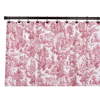 Gatineau Cotton Toile Shower Curtain Color: Red
