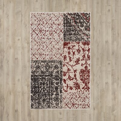 Jerome Black/Burgundy Area Rug Rug Size: Rectangle 68 x 98
