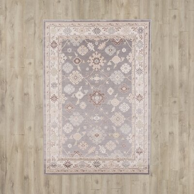 Joliet Tan/Gray Area Rug Rug Size: Rectangle 39 x 52