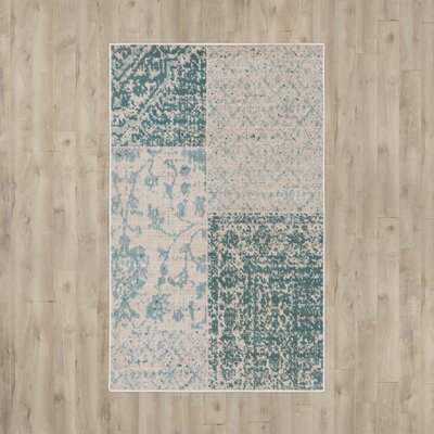 Jerome Teal/Beige Area Rug Rug Size: Rectangle 28 x 5