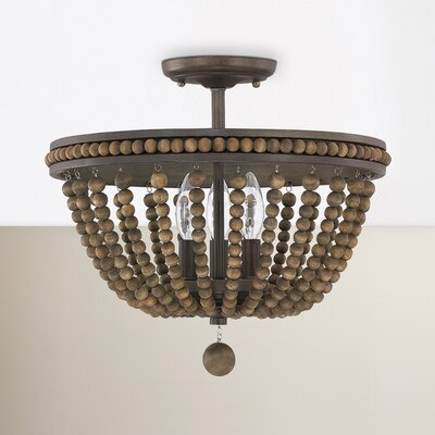 Lillian 3-Light Semi Flush Mount
