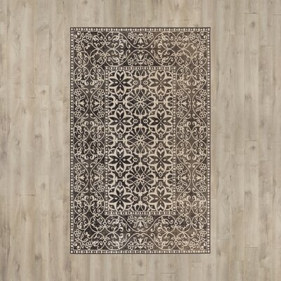Jerome Charcoal/Beige Area Rug Rug Size: Rectangle 68 x 98