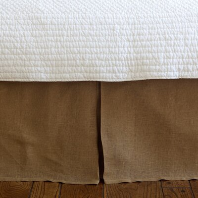 Cherry Linen Voile Bed Skirt Size: Queen, Color: Tobacco