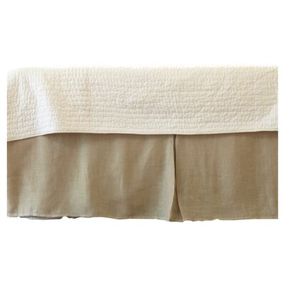 Cherry Linen Voile Bed Skirt Size: Twin, Color: Natural