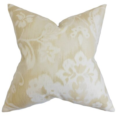Plainville Floral Throw Pillow Cover Color: Natural