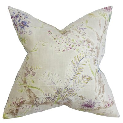 Ilana Floral Throw Pillow Cover Color: Natural