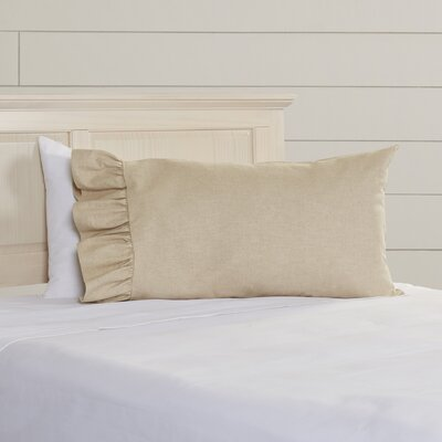 Allentown Linen Blend Ruffled Pillowcase