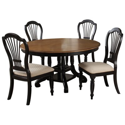 Halton Round Dining Table Finish: Black