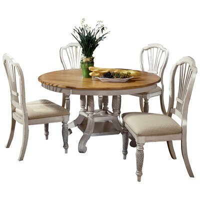 Halton Round Dining Table Finish: Antique White