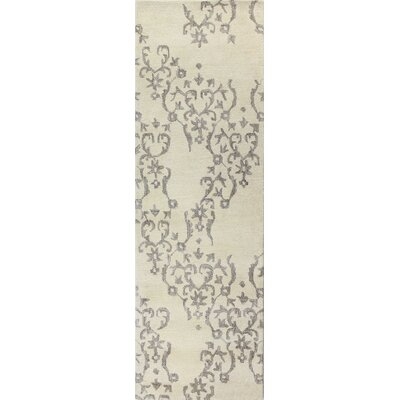 Paris Hand-Knotted Ivory Area Rug Rug Size: Runner 26 x 8