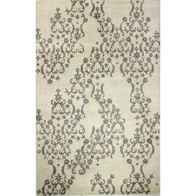 Paris Hand-Knotted Ivory Area Rug Rug Size: 39 x 59
