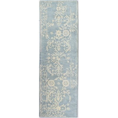 Coeur dAlene Hand-Tufted Light Blue Area Rug Rug Size: Runner 26 x 8
