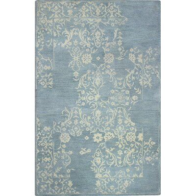 Coeur dAlene Hand-Tufted Light Blue Area Rug Rug Size: 56 x 86