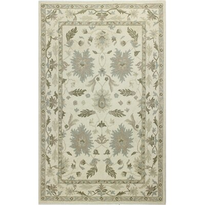 Paris Hand-Tufted Beige Area Rug Rug Size: 5 x 8