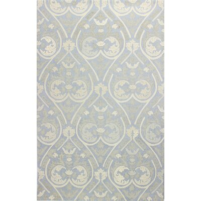 Paris Hand-Tufted Light Blue Area Rug Rug Size: 5 x 8