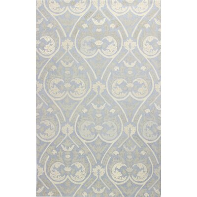 Paris Hand-Tufted Light Blue Area Rug Rug Size: 7'9
