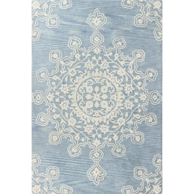 Scotland Hand-Tufted Light Blue Area Rug Rug Size: 5 x 76