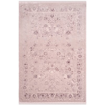 Elodie Plum Area Rug Rug Size: Rectangle 51 x 76