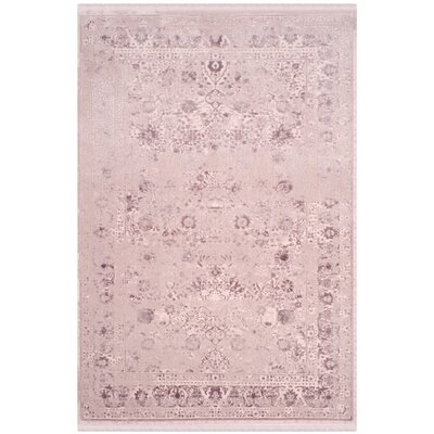 Elodie Plum Area Rug Rug Size: 51 x 76