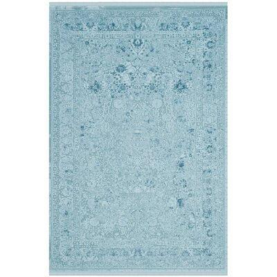 Elodie Aqua Area Rug Rug Size: Rectangle 8 x 10