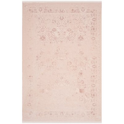 Elodie Blush Area Rug Rug Size: Rectangle 51 x 76