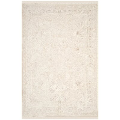 Elodie Creme Area Rug Rug Size: Rectangle 51 x 76