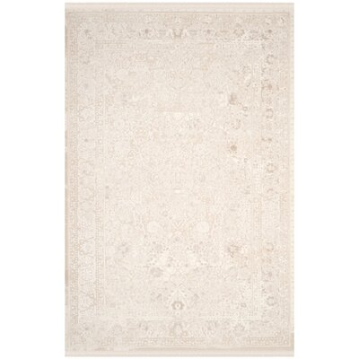 Elodie Creme Area Rug Rug Size: 51 x 76