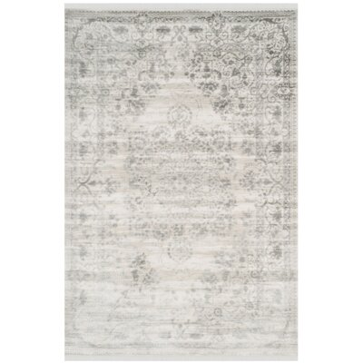 Elodie Gray Area Rug Rug Size: 51 x 76