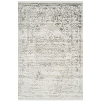 Elodie Gray Area Rug Rug Size: 9 x 12