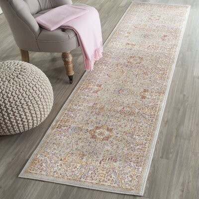 Shady Dale Silver/Ivory Area Rug Rug Size: Runner 21 x 8