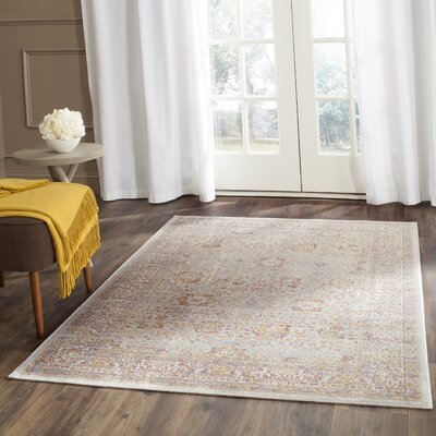 Shady Dale Silver/Ivory Area Rug Rug Size: Rectangle 96 x 13