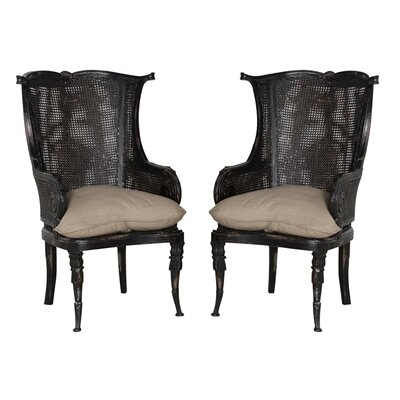 Cairo Barrel Chair Color: Black