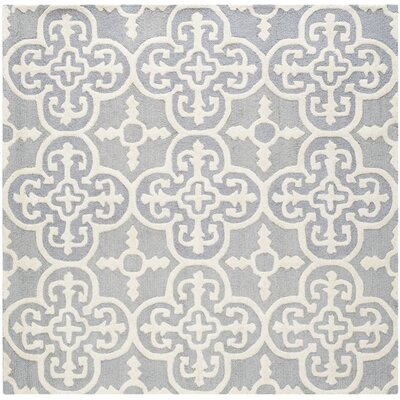 Nicholls Gray Hand-Woven Wool Area Rug Rug Size: Square 6