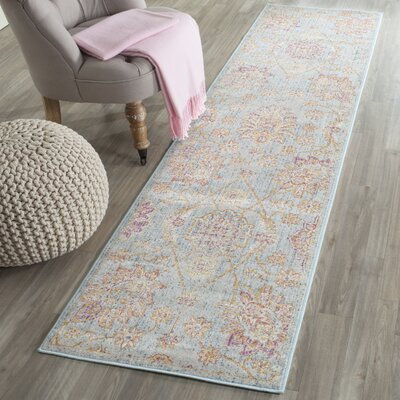 Shady Dale Light Blue Area Rug Rug Size: Runner 21 x 8