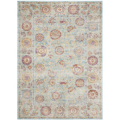 Shady Dale Light Blue Area Rug Rug Size: 4 x 57