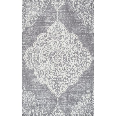 Glenan Hand-Tufted Gray Area Rug Rug Size: 5 x 8