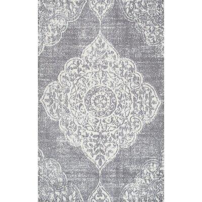 Glenan Hand-Tufted Gray Area Rug Rug Size: 76 x 96