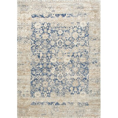Moselle Muted Floral Blue Area Rug Rug Size: Rectangle 710 x 1010