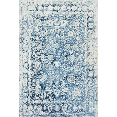 Lavardens Blue/White Area Rug Rug Size: Rectangle 4 x 6