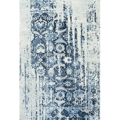 Montagne Blue/White Area Rug Rug Size: 86 x 116