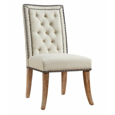 Emilien Parsons Chair Upholstery: Beige