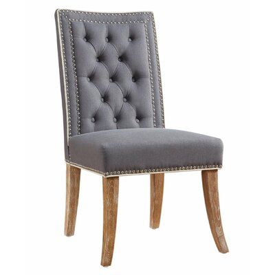 Emilion Parsons Chair Upholstery: Gray