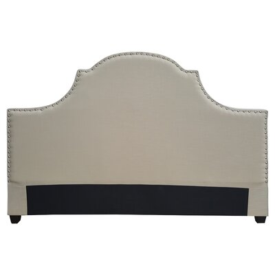 Etienne Modern Upholstered Panel Headboard Size: King, Upholstery: Cream