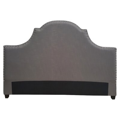 Etienne Modern Upholstered Panel Headboard Size: King, Upholstery: Dark Grey