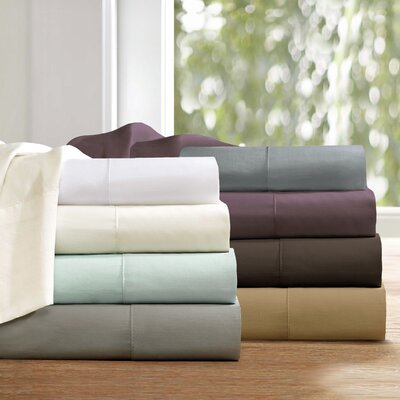 Elona 300 Thread Count Pima Cotton Sheet Set Size: California King, Color: Khaki