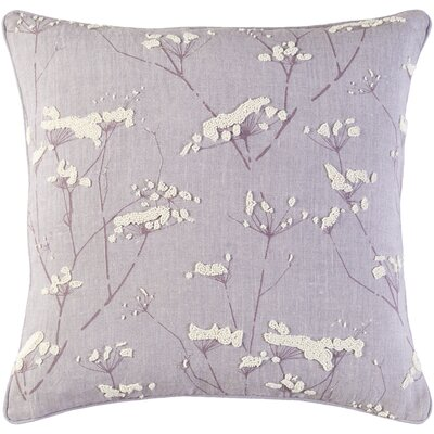 Ranchester Linen Throw Pillow Color: Mauve/Cream, Size: 18 H x 18 W x 4 D