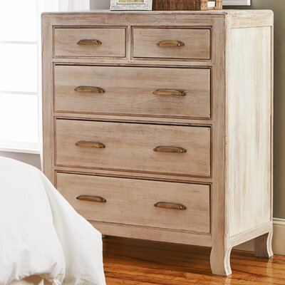 Arceneaux 5 Drawer Solid Wood Chest