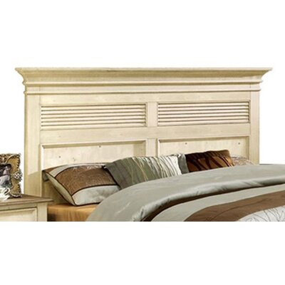 Quevillon Panel Headboard Size: King, Finish: Dover White