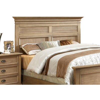 Quevillon Panel Headboard Color: Weathered Driftwood, Size: Queen